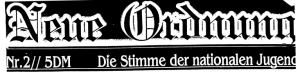 """Logo des Nazi-Zines """"Neue Ordnung"""""""